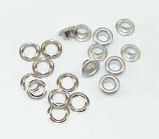 50 Ösen 11,5x6,5x5mm Silber 2-teilig  08.115/429