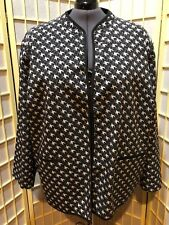 Women's size 5x (34/36W) Maggie Barnes Black, White and Gray Jacket