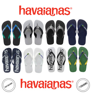 Mens Havaianas Original Genuine Flip Flops Various New Colours All Sizes