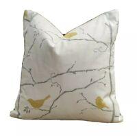 "Sanderson Dawn Chorus Linden/Slate Fabric 18"" x 18"" (45cm X 45cm) Cushion Cover"