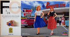29110 Hasegawa 50´s American Girls Figures 2 Mädels 1950er Jahre 1:24