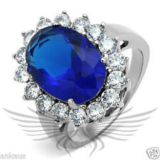 5 6 7 8 9 10 Tk0W389 Brilliant 5.8ct Oval Synthetic Glass Engagement Halo Ring