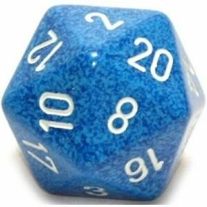 WATER Highly Collectible Excellent Quality Durable D20 Dice Speckled (34 mm)