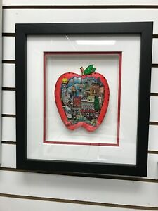 "Charles Fazzino 3D Artwork "" The Stimulus Apple "" Signed Numbered Deluxe Edition"