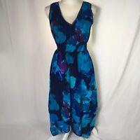 Simply Vera Women Medium Petite Sleeveless handkerchief  Hem Casual Dress