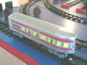NEW Lionel Santa Fe Super Chief READY-TO-PLAY OBSERVATION CAR From Set 7-11913.
