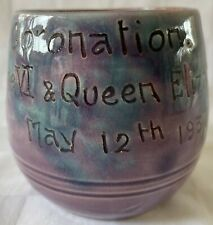 Vintage King George VI 1937 Coronation Baron Pottery Cup