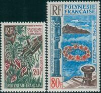 French Polynesia 1965 Sc#216-C38,SG49-50 School Canteen Art set MNH