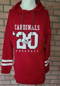 Arizona Cardinals Men's NFL Team Apparel Printed Pocket Hoodie Red Silver XL New