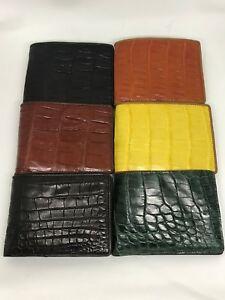 Genuine Crocodile Alligator Skin Leather Men's Wallet