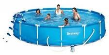 piscina tonda PVC telaio metallo fuori terra 12600 lt 457x91 no ossida