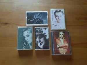 LOT DE 4 k7/ audio tape / +1 minidisc / - PATRICIA KAAS -