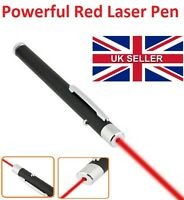 Powerful Red Color Laser Pointer Pen Beam Light 1mW Beam Ray 650nm - UK Seller