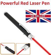 Potente Lápiz Puntero Láser Color Rojo Haz de Luz 1mW beam ray 650nm-vendedor de Reino Unido