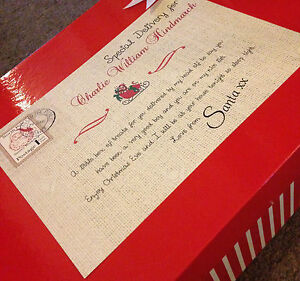 Personalised Christmas Eve Box A4 Sign. Christmas Eve Box Sign