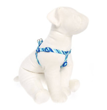 Top Paw: Blue/White Angle Stripe Step-In Adjustable Dog Harness (Small & Medium)