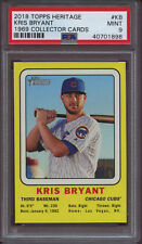 2018 Topps Heritage 1969 Collector Cards KB Kris Bryant Target PSA 9 Mint