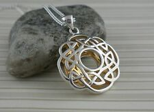 Sterling Silver Round Celtic Window to the Soul Pendant Keith Jack Jewelry