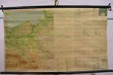 Schulwandkarte Wandkarte map Schlesien Pommern Ostpreussen Posen 131x78 1952
