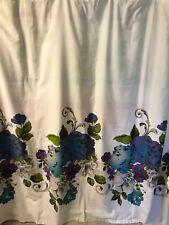 Cynthia Rowley Fabric Shower Curtain ~ Purple Flowers