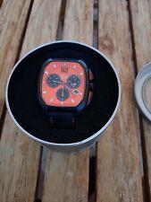 LIV Rebel Black DDC Orange Dial Swiss Quartz 40mmx49mm w Canvas Strap - SOLD OUT