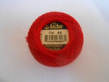 Anchor Perle 8 Cotton 10g Red colour Number 46