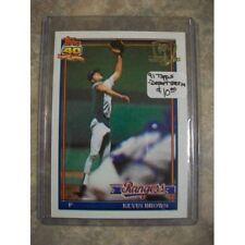 Keven Brown - 1991 Topps / DESERT SHIELD #584 - Rangers MLB Baseball Card