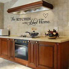 Kitchen Heart Home Quote Wall Stickers Art Dining Room Removable Decals DIY UK