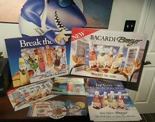 7 BACARDI BREEZER BARTLES JAYMES GORDON'S VODKA SEX BEACH VINTAGE CARDBOARD ADS
