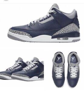 "Air Jordan 3 Retro ""Georgetown Midnight Navy"" Size 8-13 CT8532 401"