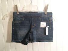 Old Navy girls denim mini shorts XS 5& MED 8. Adjustable Waist - New W Tags