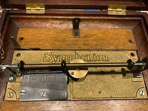 Antique music box Symphonion disk player for restoration