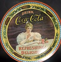 Vintage Style Tin Metal Coca Cola Commemerative Tray 75th Anniversary Numbered