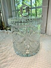 Cut Crystal Biscuit Barrel