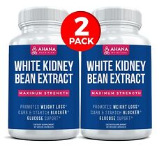 White Kidney Bean Extract – Maximum Strength 1,200mg Capsules (2 PACK)