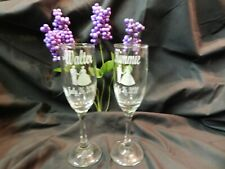AAA  Personalized Wedding  Gift Toasting Flutes Etched Glass Champagne