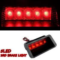 Universal Car 5 LED Rear High Mount Third 3RD Warning Brake Stop Tail Light New