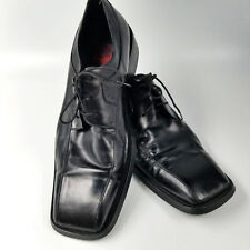 Ravello Black Leather Oxfords 85123 Hand Made Shoes Mens sz 10 Tie 44 Euro Italy