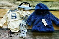 Gymboree 0 3 6 Newborn Penguin Bodysuit Fair Isle Pants Hat Hoodie Jacket NWT