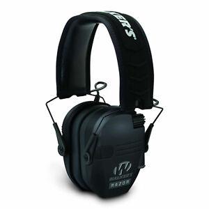 Walker's Razor Slim Shooter Black Electronic Folding Hearing Protection Earmuffs