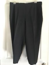 Talbots Stretch NWOT Sz 20 Charcoal Gray Flat Front Side Zip Pants