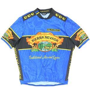 "VTG Pearl iZumi Men 2XL 52"" Sierra Nevada Cycling Jersey Shirt USA Ale Beer"