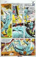 Original 1978 JLA Super Team Family 14 color guide art page 4: Wonder Woman/Atom