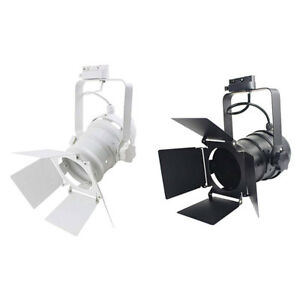 Industrial led track light for stage theater Light with 4-Leaf Barn Doors lamp