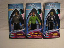 "Star Trek 9"" Figs - Gul Dukat, Jem'Hadar, Capt James Kirk - Warp Factor Series 3"