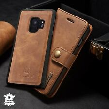 For Galaxy S21/S20/S10/S9,Note 20/10/9 Leather Removable Wallet Magnet Flip Case