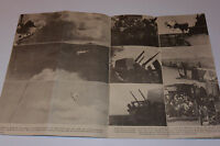 VINTAGE 1945 USS WISCONSIN NAVY DAY 16 PAGE NEWSPAPER! WWII BATTLE PHOTOS/NIMITZ