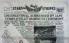 WWII VJ Day Stars & Stripes Home Front MacArthur Sweetheart Souvenir Silk? Scarf