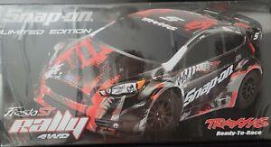 Traxxas Fiesta ST Rally Car NIB Limited Snap On Edition