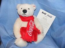 Steiff Coca Cola Orso Polare Con Sciarpa IN BOX EDIZIONE LIMITATA NUOVO EAN 355301